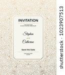 vintage wedding invitation... | Shutterstock .eps vector #1023907513
