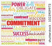 commitment word cloud collage ... | Shutterstock .eps vector #1023909973