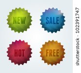 set of 4 quality vector labels. ... | Shutterstock .eps vector #102391747