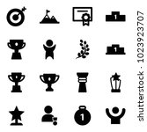 solid vector icon set   target... | Shutterstock .eps vector #1023923707