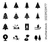 solid vector icon set  ... | Shutterstock .eps vector #1023923977