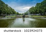 sea piece sculpture fountain ... | Shutterstock . vector #1023924373