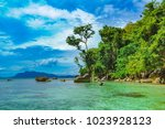 the coast of the island of... | Shutterstock . vector #1023928123