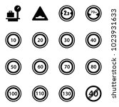 solid vector icon set   baggage ...   Shutterstock .eps vector #1023931633