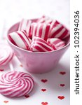 old fashioned peppermint hard rock candy - stock photo
