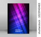 advertising flyer party design...   Shutterstock .eps vector #1023940483