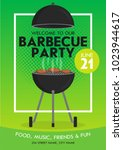 lovely vector barbecue party... | Shutterstock .eps vector #1023944617