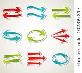 set of abstract colorful arrow... | Shutterstock .eps vector #102395317