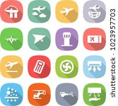 flat vector icon set   factory... | Shutterstock .eps vector #1023957703