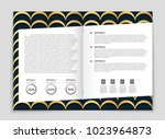 abstract vector layout... | Shutterstock .eps vector #1023964873