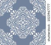 ornamental seamless pattern.... | Shutterstock .eps vector #1023967777