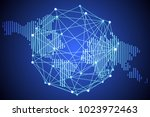 abstract technology concept... | Shutterstock .eps vector #1023972463