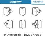 doorway icons. professional ... | Shutterstock .eps vector #1023977083