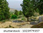 landscape of the ein gever... | Shutterstock . vector #1023979357