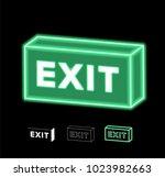 fluorescent light box sign ... | Shutterstock .eps vector #1023982663