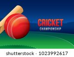 vector of cricket championship... | Shutterstock .eps vector #1023992617