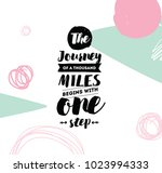 the journey of a thousand miles ... | Shutterstock .eps vector #1023994333