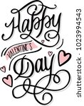 happy valentines day hand... | Shutterstock .eps vector #1023994543