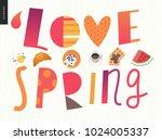 love  spring  breakfast... | Shutterstock .eps vector #1024005337