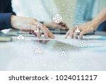 microchip  cpu  processor ... | Shutterstock . vector #1024011217