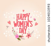 international happy women's day.... | Shutterstock .eps vector #1024013593