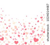 colorful background with heart... | Shutterstock .eps vector #1024014487
