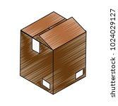 cardboard box open | Shutterstock .eps vector #1024029127