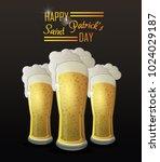 saint patricks day card | Shutterstock .eps vector #1024029187