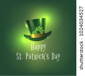 happy saint patrick day banner... | Shutterstock .eps vector #1024034527