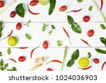 colorful vegetable with tomato  ... | Shutterstock . vector #1024036903