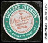 vintage varsity graphics and... | Shutterstock .eps vector #1024041547