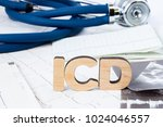 icd acronym or abbreviation to... | Shutterstock . vector #1024046557