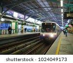 bts sky train station bangkok...   Shutterstock . vector #1024049173