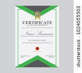 certificate template modern a4... | Shutterstock .eps vector #1024055503