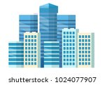 city center   high skyscrapers  ... | Shutterstock .eps vector #1024077907