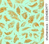tropical palm leaves  jungle... | Shutterstock . vector #1024082977