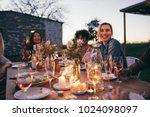 group of friends enjoying... | Shutterstock . vector #1024098097