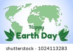 earth day theme greeting card... | Shutterstock .eps vector #1024113283