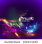 Abstract Music Dance Backgroun...