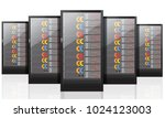 network servers computer... | Shutterstock .eps vector #1024123003