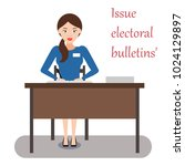 the work of the election... | Shutterstock .eps vector #1024129897