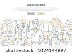 creative idea   modern line... | Shutterstock .eps vector #1024144897