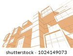 architecture 3d view | Shutterstock . vector #1024149073
