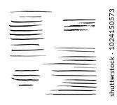 vector black mascara brush... | Shutterstock .eps vector #1024150573