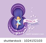 card for 8 march womens day.... | Shutterstock .eps vector #1024152103