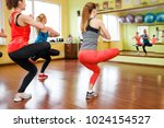 happy fitness workout. sports... | Shutterstock . vector #1024154527