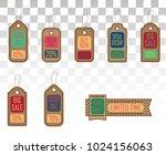 set of stickers for best stock... | Shutterstock .eps vector #1024156063