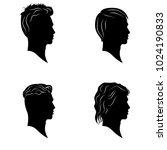hamdsome men hairstyles vector... | Shutterstock .eps vector #1024190833