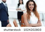 business woman on the... | Shutterstock . vector #1024202803