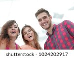 closeup of three young people...   Shutterstock . vector #1024202917